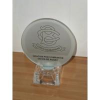 Trofeo cristal grabado